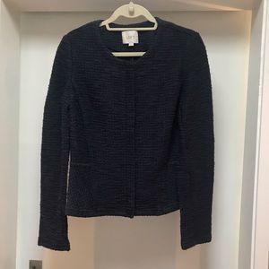 Blue and Black (M) LOFT Blazer with zipper